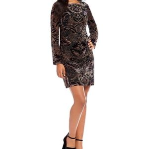 Vince Camuto Velvet Burnout Dress